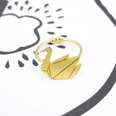 Oiseau Origami Gold Ring - Majolie   - 1