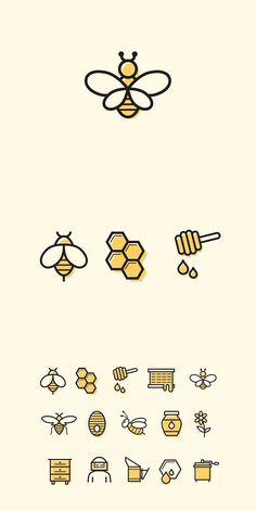 15 Bienen- und Honig-Symbole - - Bullet Journal - 15 bee and honey s Bullet Journal Ideas Pages, Bullet Journal Inspiration, Doodle Drawings, Easy Drawings, Cute Bee, Bee Art, Cute Doodles, Simple Doodles, Flower Doodles