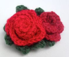 Crocheted Rose Brooch by JosieMary on Etsy, £6.00