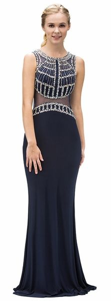 Estelle's Dressy Dresses is the World's Largest Dress store with over dresses in stock at all times. Get your special occasion dress at our Farmingdale, New York location or buy online. Navy Blue Prom Dresses, Dressy Dresses, Navy Dress, Prom 2016, Column Dress, Prom Long, Beaded Top, Special Occasion Dresses, Gowns