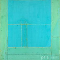 Painting  # 300-10 - by Akira Iha - mixed media on panel - 48 x 48 x 1.75 inches - year 2011 - at Paia Contemporary Gallery