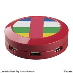 Central African flag USB Charging Station