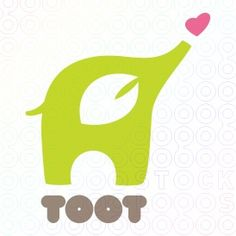 LOGO Animal child children clothing cute earth eco ecology elephant heart leaf love trunk