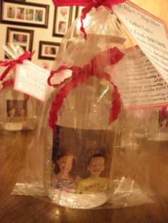 """Hand sanitizer with a picture of the kids inside.  With it is a """"poem"""" about hands.  Does not cost a lot - great gift for Dad's to put on their desk at work!"""