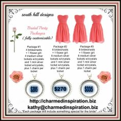 Looking for wedding party gifts? Some perfect packages!  $205-335 http://charmedinspiration.biz