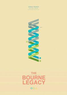 The Bourne Legacy (2012) ~ Minimal Movie poster by Mads Svanegaard #amusementphile
