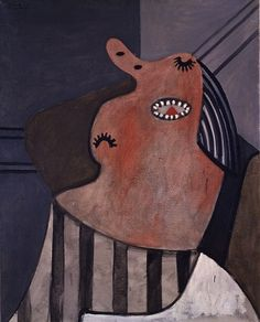 Pablo Picasso, Woman Sleeping in a Chair (1927) .