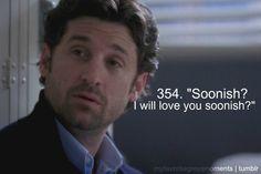 "Derek Shepherd. From season 3, ep. 37: ""Time Has Come Today"""