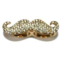 Mustache Double Ring #CandiedThreads