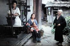 Reeling of silk cocoons in a family farm, near Matsumoto (autochrome), 1926 by Albert Kahn
