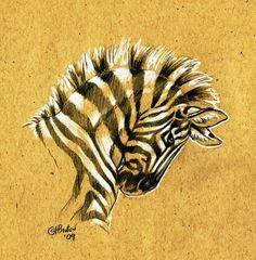 Brown Paper Zebra Sketch by Hbruton on DeviantArt Zebra Drawing, Zebra Painting, Paper Drawing, Paper Art, Africa Painting, Arte Zebra, Zebra Art, Cool Art Drawings, Art Drawings Sketches