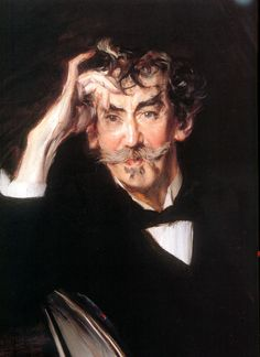"Giovanni Boldini (1842-1931) ""Portrait of James Whistler(detail)"" , 1897"