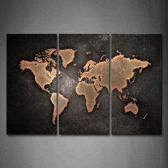 Find More Painting & Calligraphy Information about 3 Piece Wall Art Painting General World Map Black Background Picture Print On Canvas Art 4 The Picture Home Decor Oil Prints,High Quality print batch,China decorative wall prints Suppliers, Cheap decor print from Mino Art on Aliexpress.com