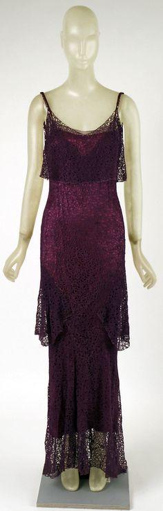 Dress, Evening - Madeleine Vionnet 1930