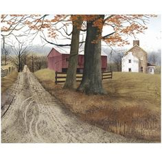 Country Road Canvas Wall Art ($60) ❤ liked on Polyvore featuring home, home decor, wall art, backgrounds, pictures, rooms, country home decor, canvas wall art, canvas picture and farmhouse home decor