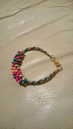 Kumihimo with wooden beads