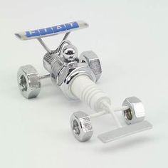 Resultado de imagem para Spark Plug Art Recycled Metal