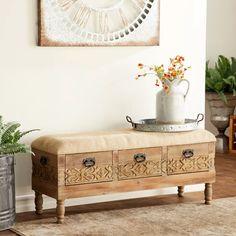 Rustic Storage Bench, Upholstered Storage Bench, Bench With Storage, Storage Drawers, Bedroom Storage Bench, Bench With Drawers, Decorative Storage, Furniture Makeover, Diy Furniture