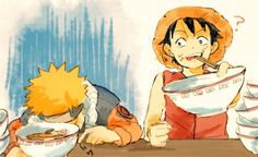One Piece, Monkey D. Luffy, Crossover, Naruto