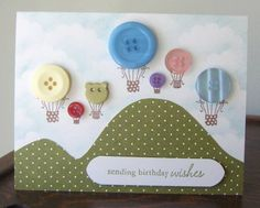 This article is about button greeting cards. It contains 14 new ideas for handmade homemade card making. Make sure to check out Part 1, too!
