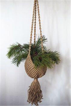 Yarn Macrame Plant Hanger; Plant Hanger; Indoor Macrame Plant Hanger DIY Idea Collections