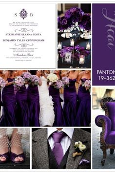Rich Exotic Pantone Acai Is A Regal Shade Of Purple Ideal For An Elegant Fall Wedding To Keep With Dark And Moody Theme Pair This Hue Grays