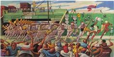 Homecoming - 19x38 print - Ernie Barnes