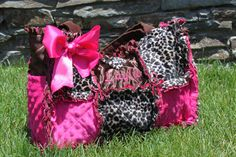NEW Cheetah and Hot Pink Rag Quilted Diaper by calchicbyjacquiek, $85.00