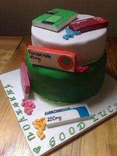 pharmacy cake...hopefully I can use this to celebrate soon!