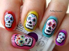 PinNails: Halloween Nails, día de los muertos #nail #nails #nailart