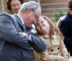 Prince Henrik having fun with his granddaughter Isabella