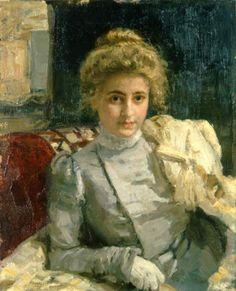 The Blond (Portrait of Tevashova), 1898 - Ilya Repin - WikiArt.org