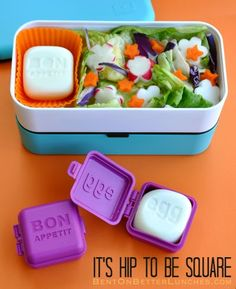 MonBento pasta & salad + square egg mold giveaway! by Bent On @Better Lunches