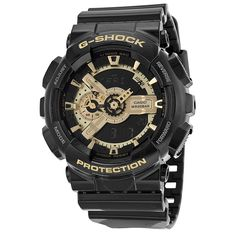 Casio G Shock Analog-Digital Dial Black and Gold Resin Men's Watch GA110GB-1ACR - G-Shock - Casio - Watches - Jomashop