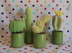 Cactus en crochet, diy, grame