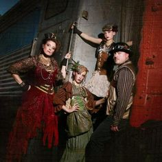 Friends, the Sporn's, doing a Steampunk photo shoot for Halloween. Outfits were custom created by David Sporn.