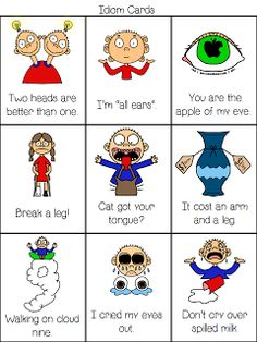 Idioms. Illustrations make everything better.