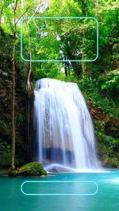 ↑↑TAP AND GET THE FREE APP! Lockscreens Art Creative Waterfall Nature Green Trees Water HD iPhone 6 Plus Lock Screen