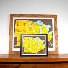 MW American Atlas Print 8x10, $20, now featured on Fab.