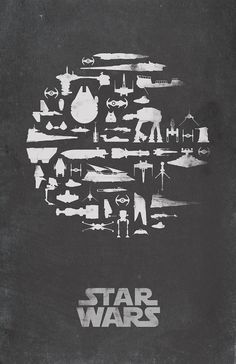 Star Wars Inspired Vintage Poster Thats No Moon by ThePixelEmpire