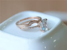 Hey, I found this really awesome Etsy listing at https://www.etsy.com/listing/243056496/fine-jewelry-2-ring-set-emerald-cut