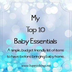 My Top 10 Baby Essentials — Happy Vikings
