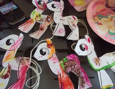 My 7 year old daughter asked for a My Little Pony party for her birthday. Here in the UK My Little Pony is only just starting to make a come...