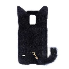 Fashion Plush Mink Style TPU Case with Tail for Samsung Galaxy S5 /Note 4