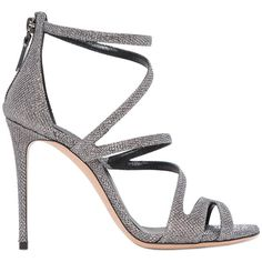 Casadei Women 100mm Glittered Fabric Sandals ($1,005) ❤ liked on Polyvore featuring shoes, sandals, glitter shoes, leather sole shoes, casadei, glitter sandals and glitter high heel shoes