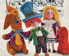 Informative blog about vintage sewing patterns to make cloth dolls - all about cloth doll patterns from the 20th century.