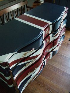 Waving Union Jack Dressers / Buffets by Artisan8 on Etsy