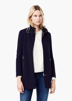 Funnel neck coat -  Women | MANGO