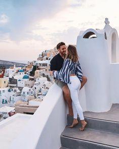 Lovers in Oia, Santorini, Greece