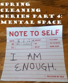 Spring Cleaning Part 4: Mental Space: The month of May is for meditation, mindfulness, and positivity!